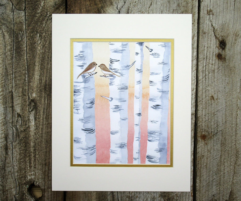 Winter Birches Print