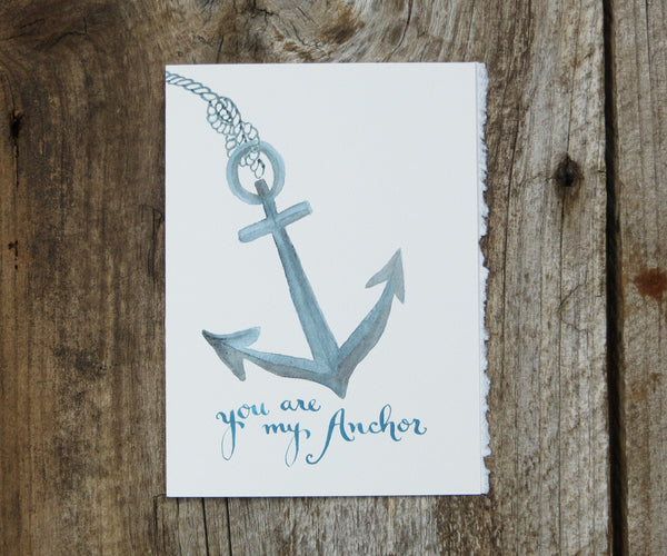 Anchor Valentine's Card