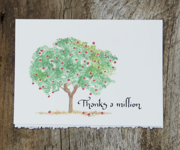 Apple Trees Thank You Card