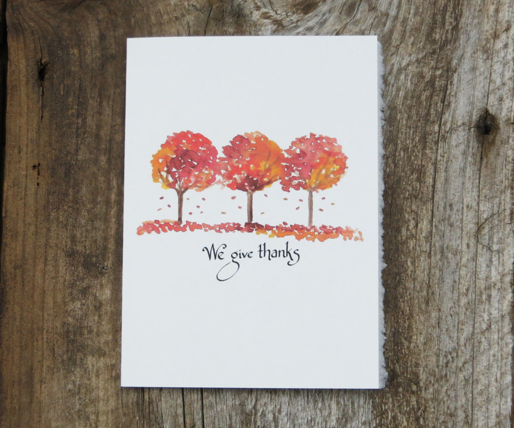 Autumn Trees Thank You Card