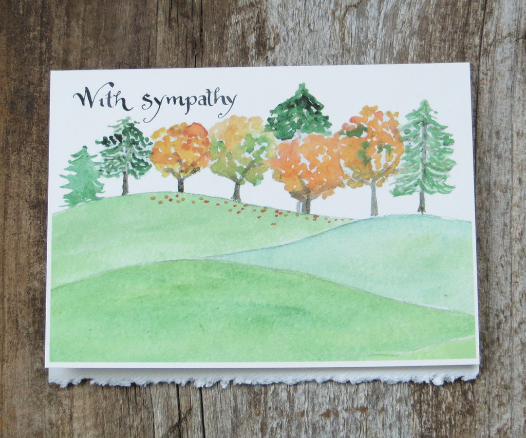Autumn Trees Sympathy Card