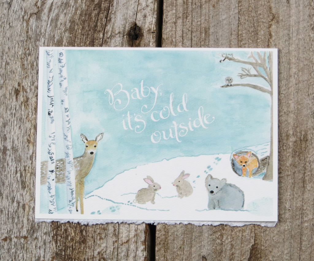 Baby Animals Holiday Card