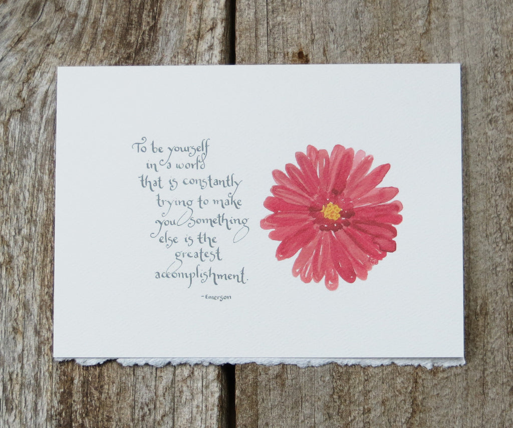 Be Yourself Quote Card