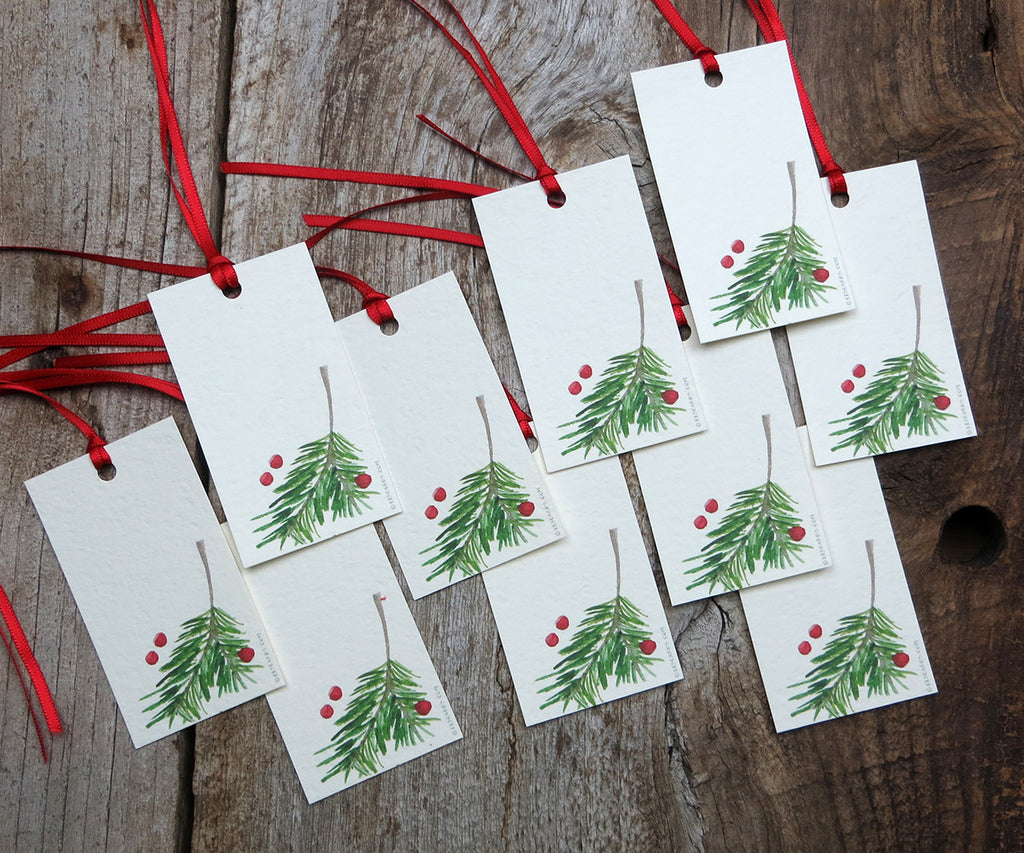 Berry & Bough Holiday Gift Tags