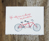 Bike For 2 Friendship & Love Card