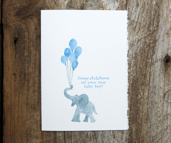 New Baby Boy Elephant Card
