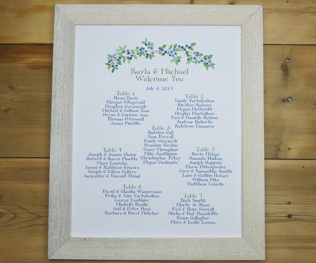 Wild Blueberries Seating Chart