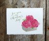 Box of Peonies Valentine's Card