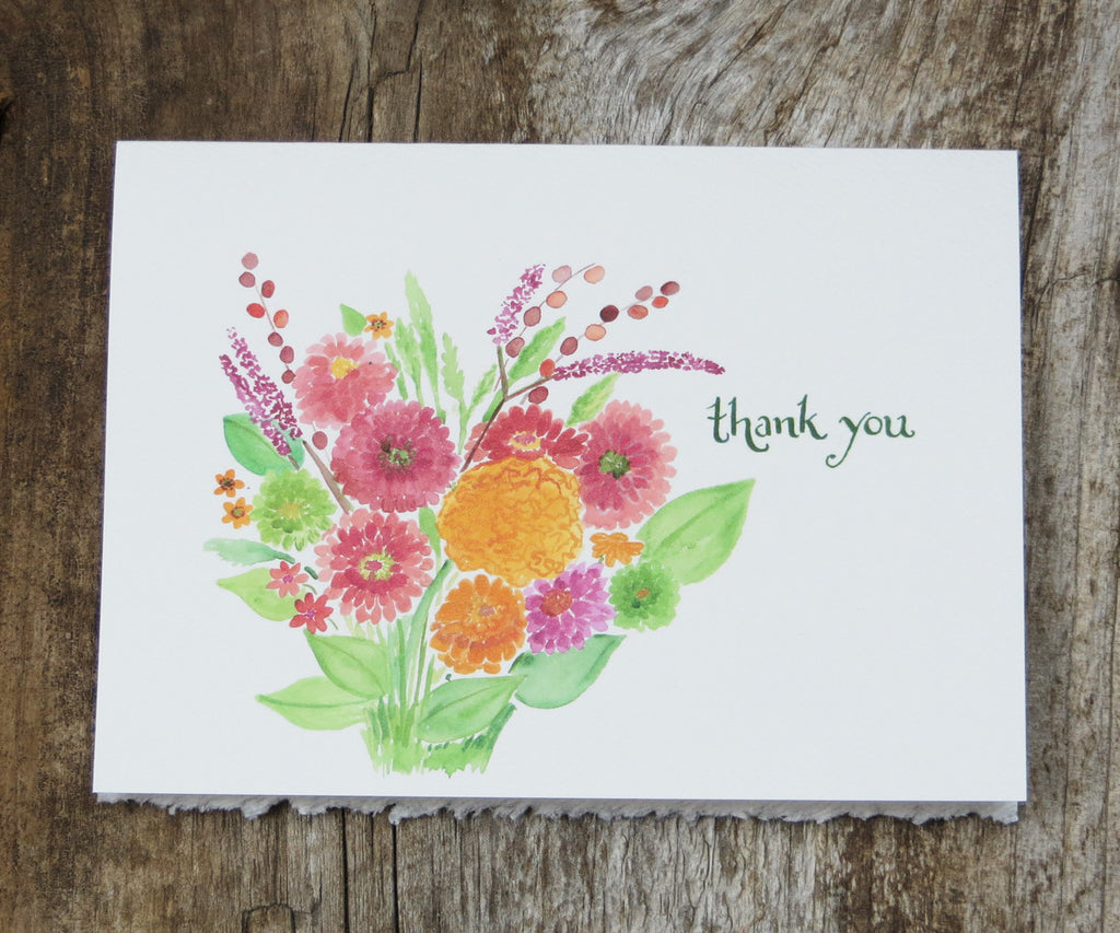 Bright Bouquet Thank You Card