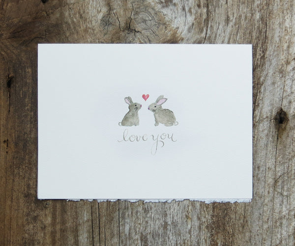 Bunnies Love Valentine's Card
