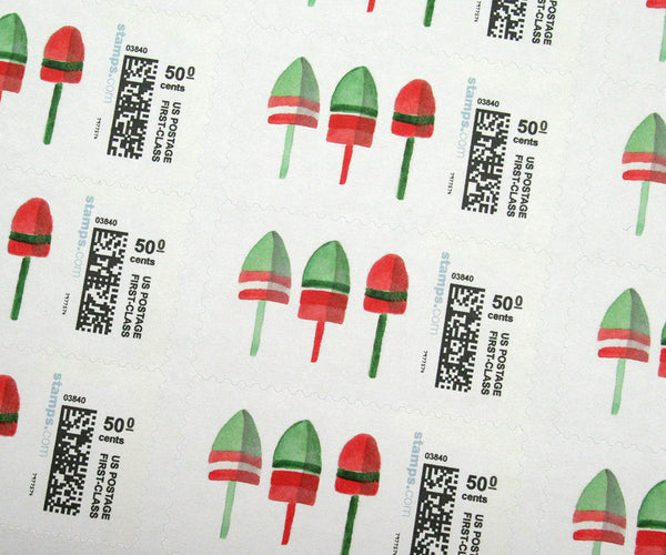 Lobster Buoys Christmas Stamps