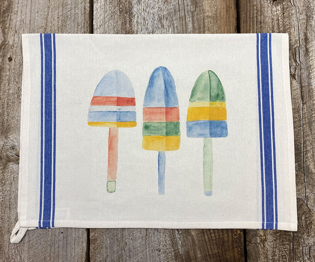 Lobster Buoys Vintage Tea Towel