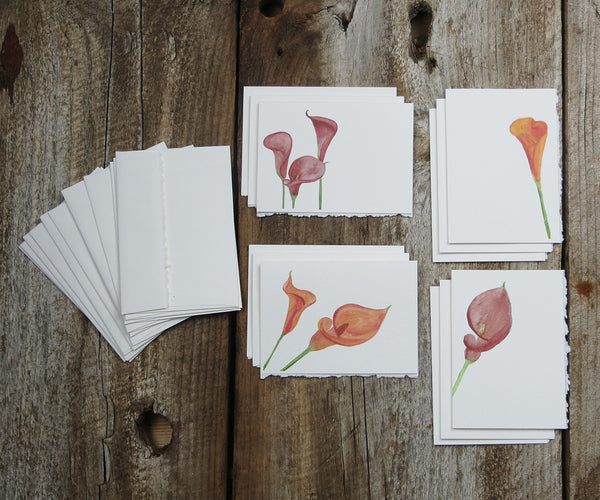 Calla Lily Mixed Note Cards, El's Cards