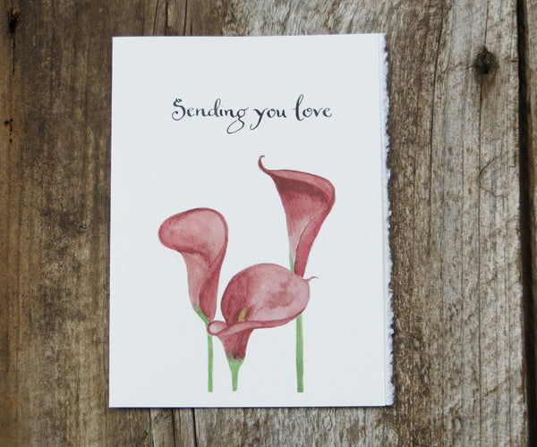 Calla Lilly Sympathy Card