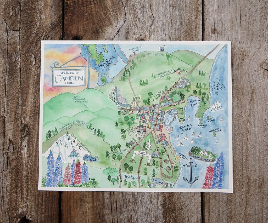Map of Camden, ME – El's Cards