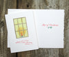 Candle Window Holiday Card