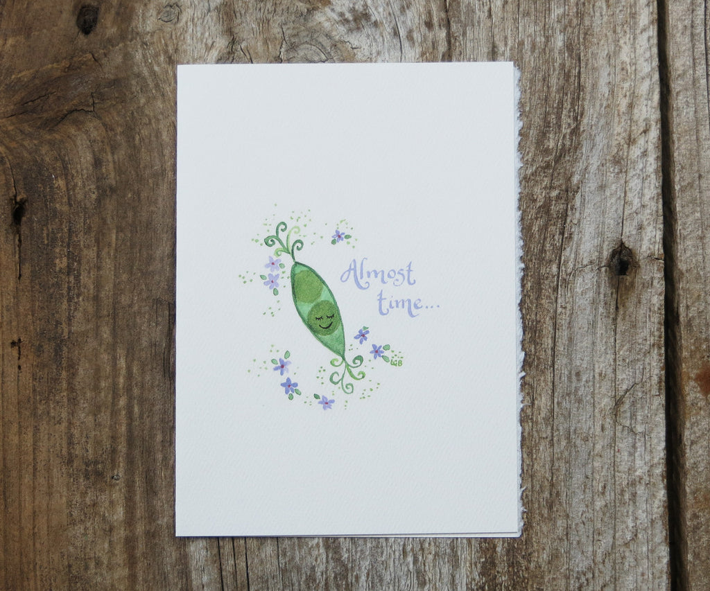 New Baby Sweet Pea Card