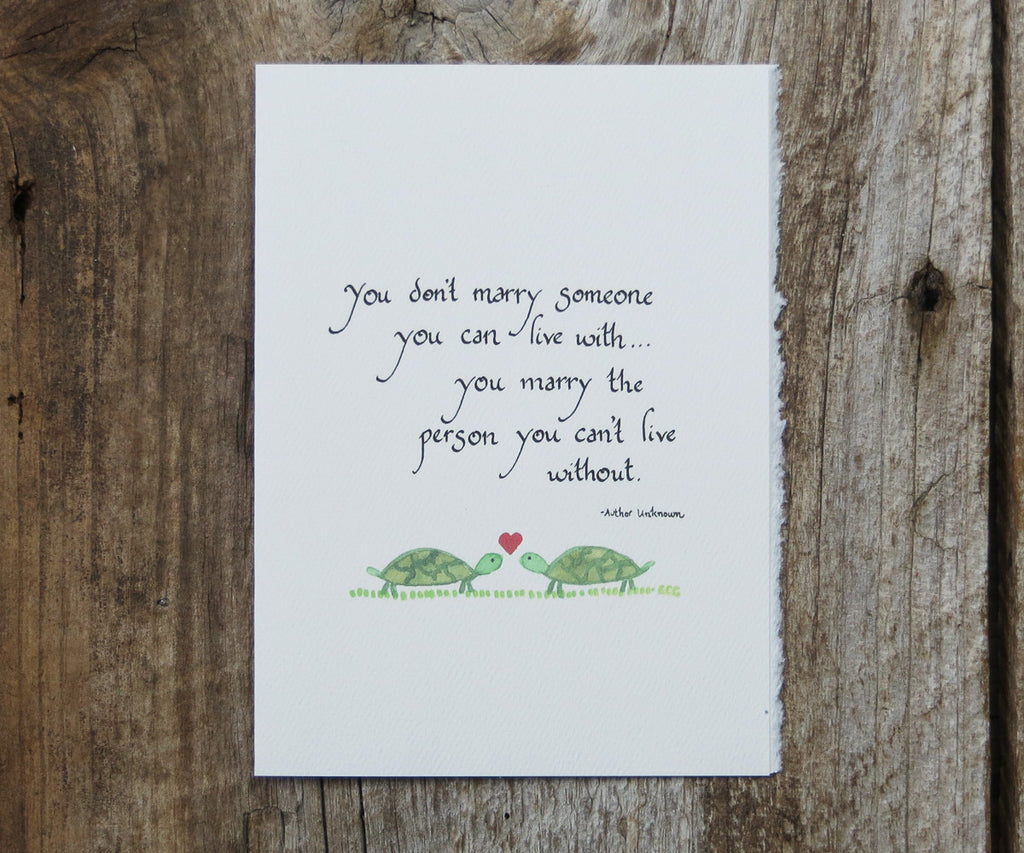 Turtles Quote Card