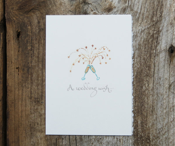 Wedding Wish Champagne Toast Card