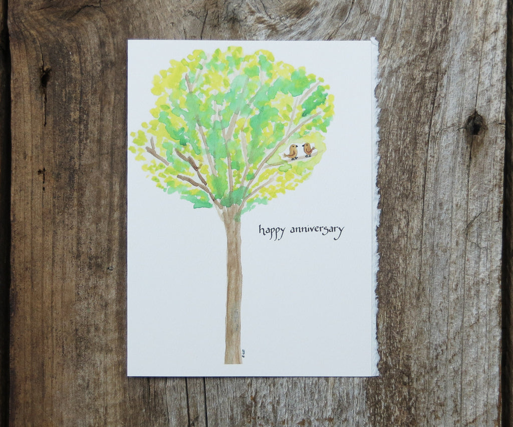 Birds in Tree Anniversary Card