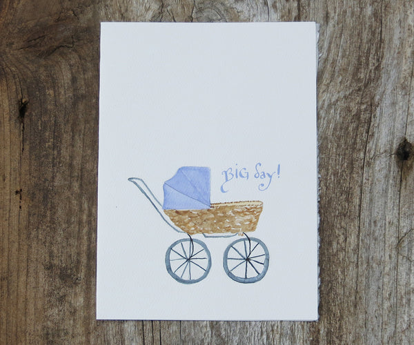 Carriage New Baby Card