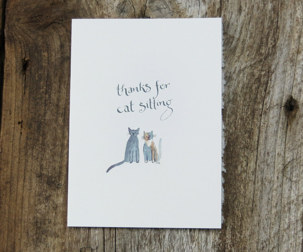 Cat Sitter Pet Card
