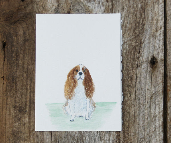 Cavalier King Charles Pet Card
