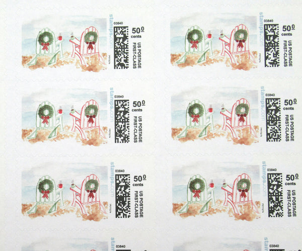 Adirondack Chairs Christmas Stamps