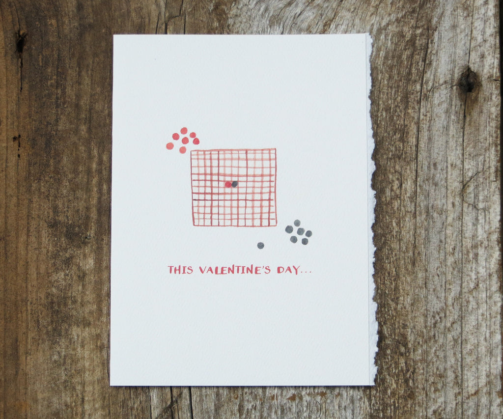 Checkers Valentines card