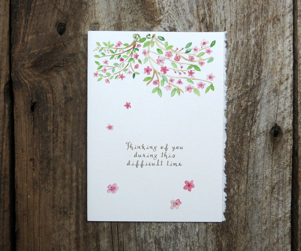Cherry Blossoms Sympathy Card