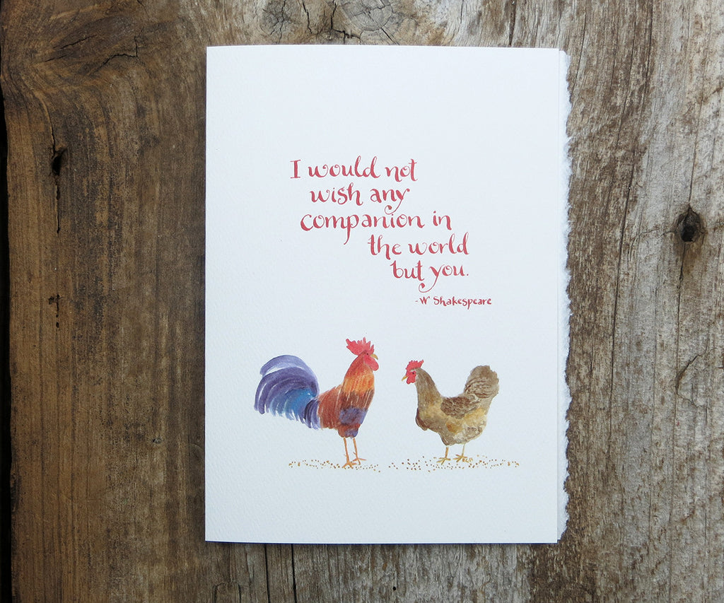 Quotes About Roosters: Chickens Quote Card