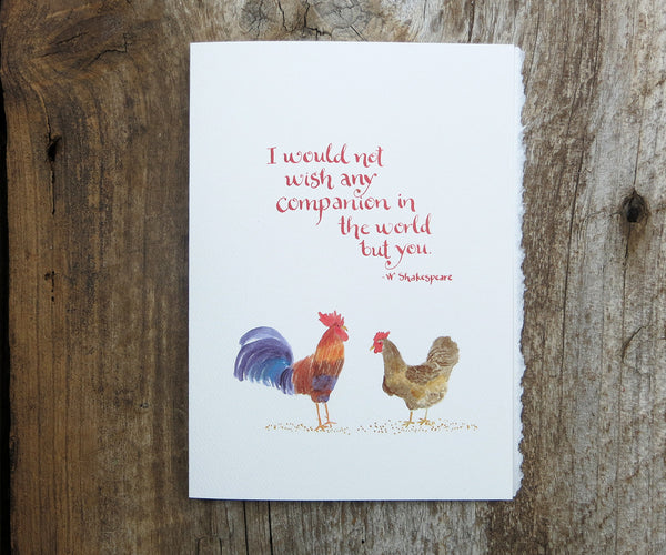 Chickens Valentine's Card