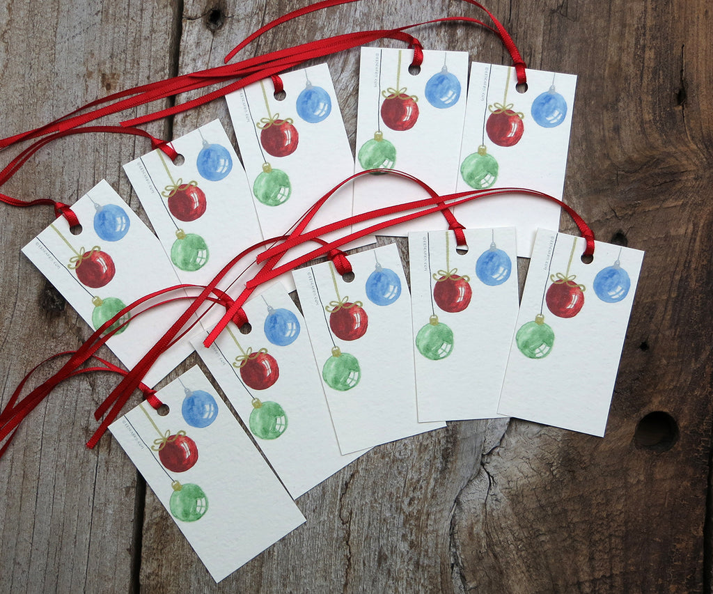 Classic Ornaments Holiday Gift Tags