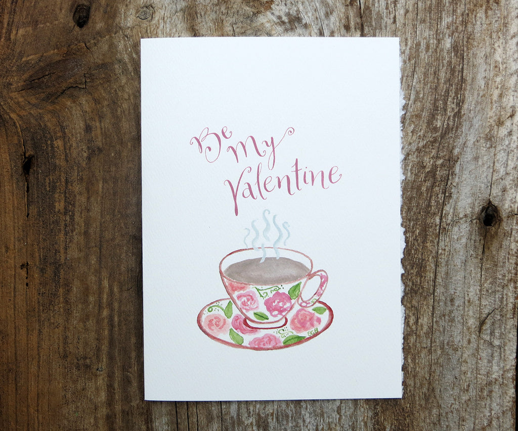 Cup of Tea Valentine's Card