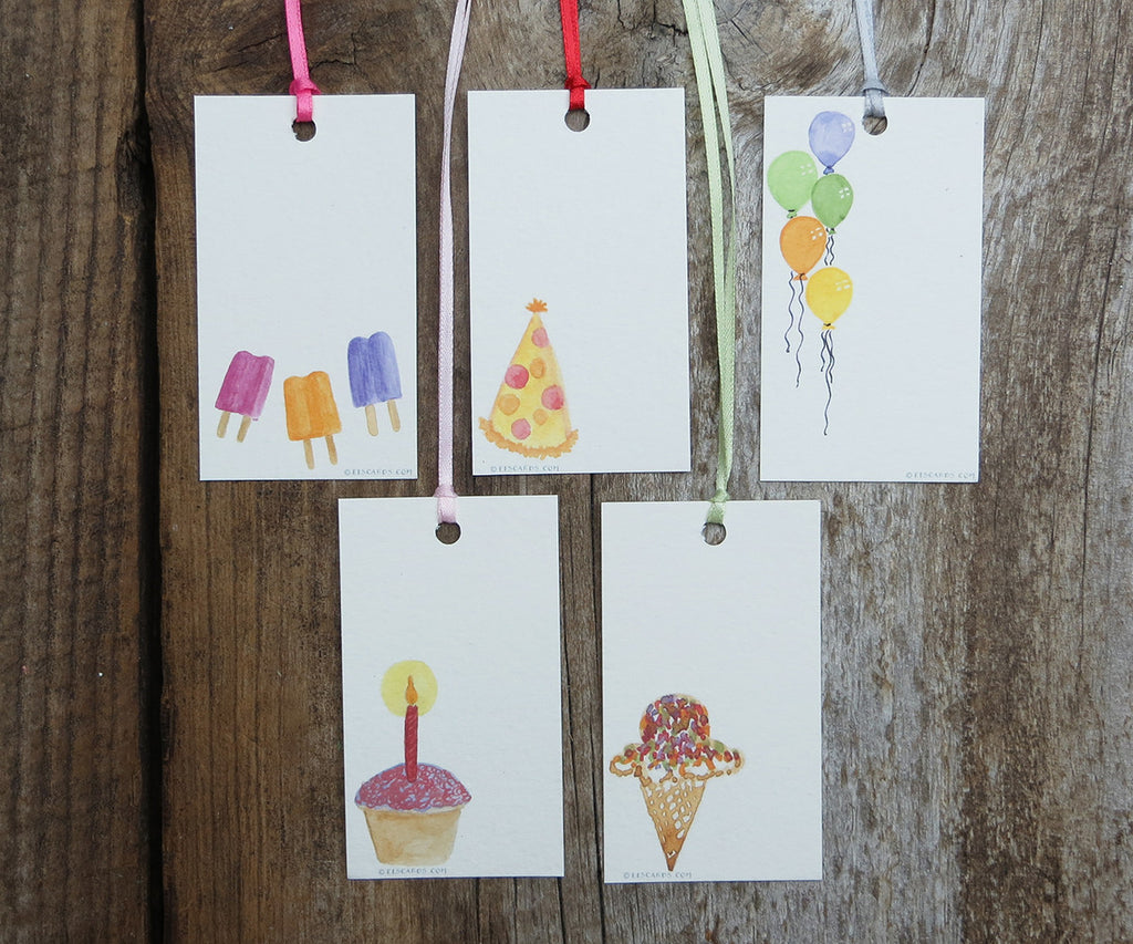 Cute Kids Birthday Gift Tags