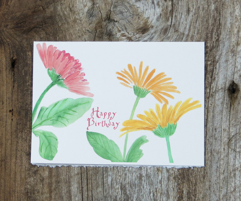 Daisies birthday card