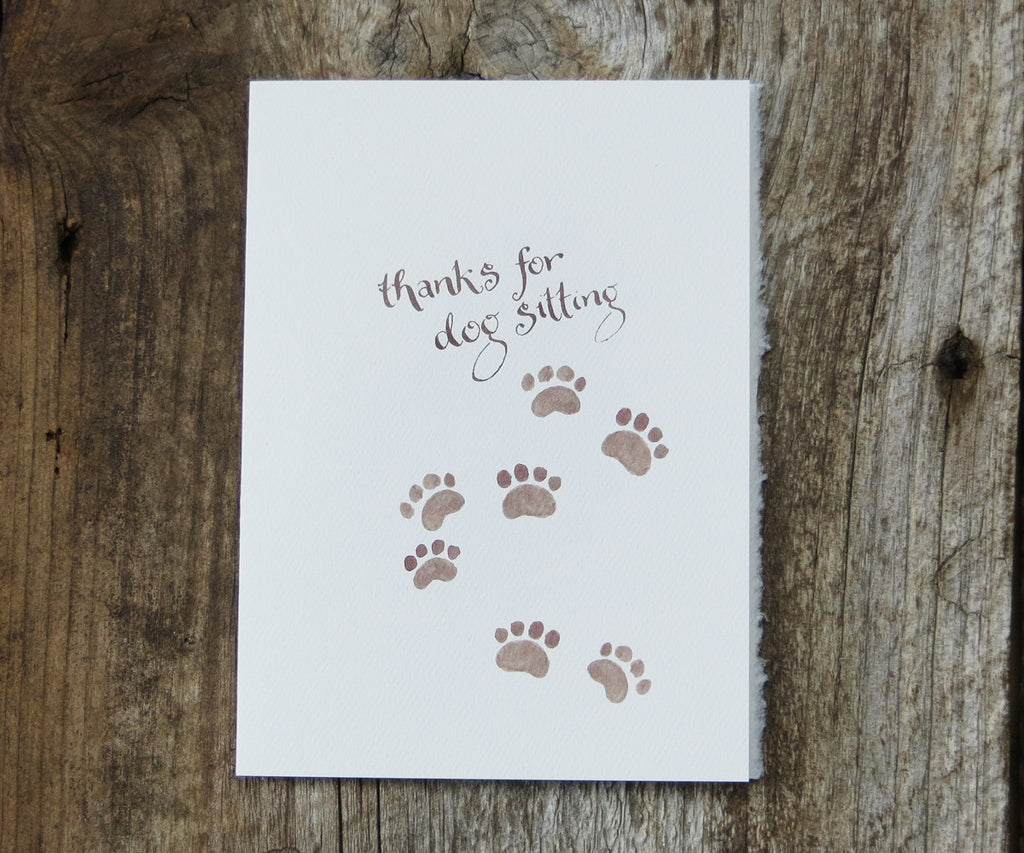 Dog Sitter Pet Card