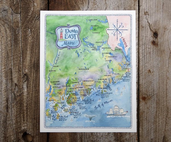 Map of Down East Maine
