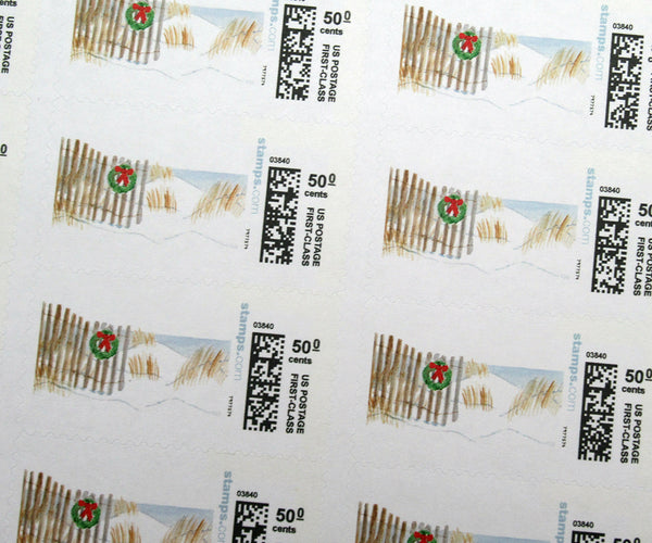 Holiday Dunes Christmas Stamps