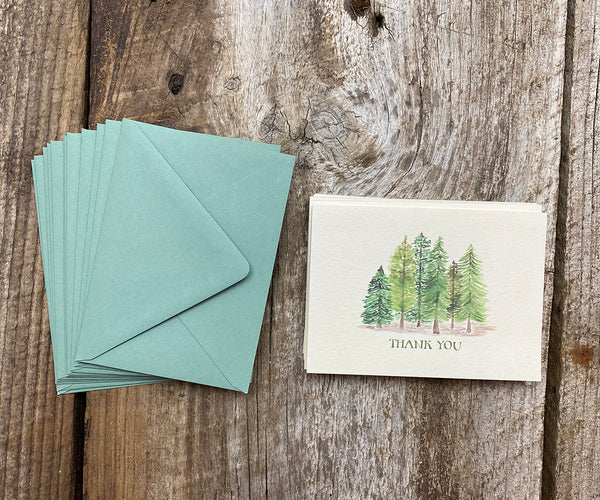 Evergreens Thank You Notes SALE