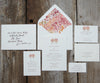 Maroon Autumn Trees Wedding Invitation