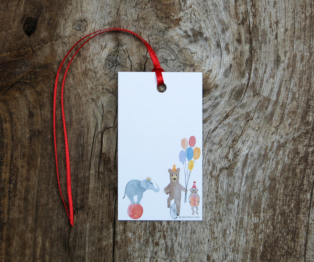 Circus Animals Gift Tags
