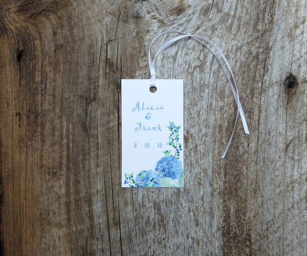 Martha's Vineyard Hydrangea Favor Tags