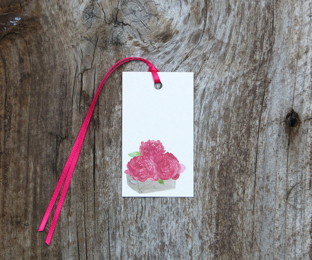 Box of Peonies Gift Tags