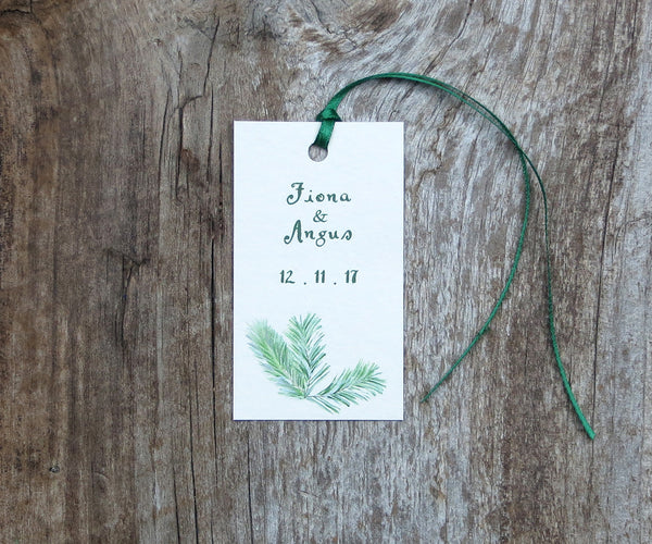 Highland Evergreen Favor Tags