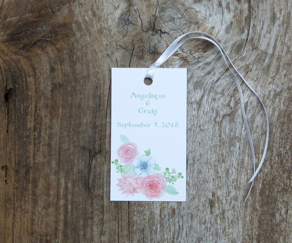 Blushing Anemone Favor Tags