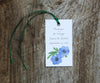 Periwinkle Bouquet Favor Tags