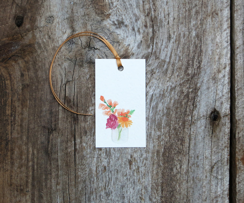 Jar of Blossoms Gift Tags