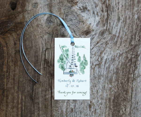 Ski Mountain Favor Tags
