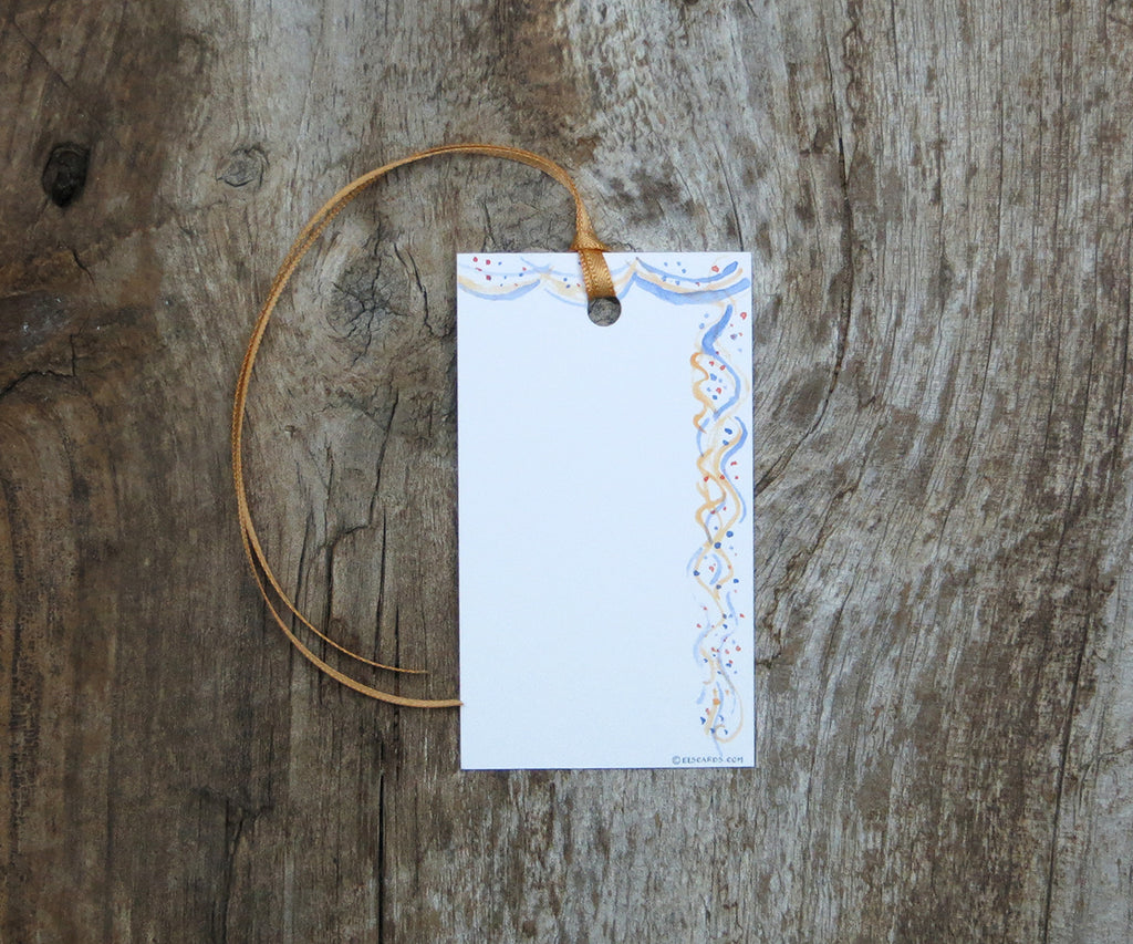 Confetti and Streamers Gift Tags